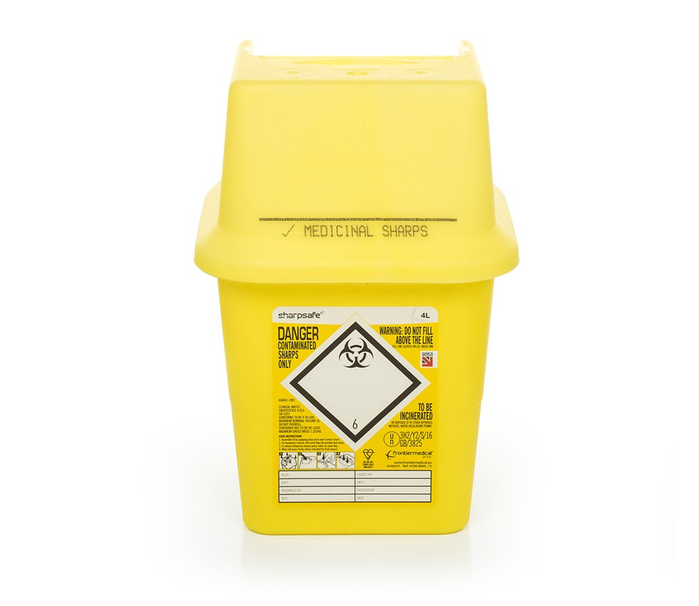 Sharpsafe 4L disposal box