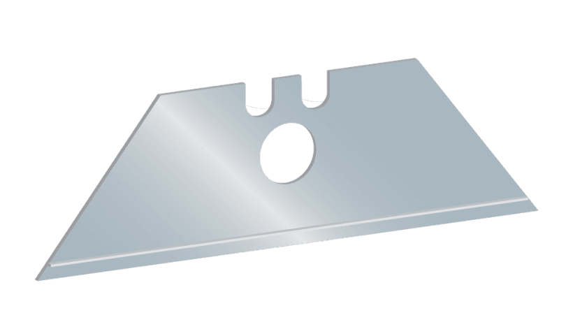 Angled AutoSlide safety blade for replacement safety knives