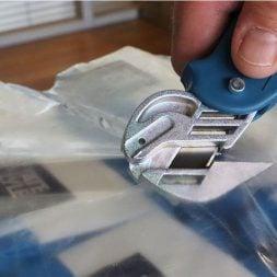 Knife safety with GR8 Pro Foodsafe cutting Shrinkwrap