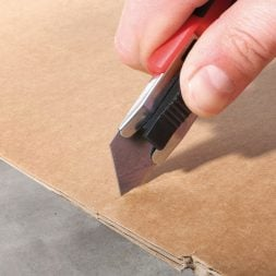 AutoSlide Slicing Through Cardboard